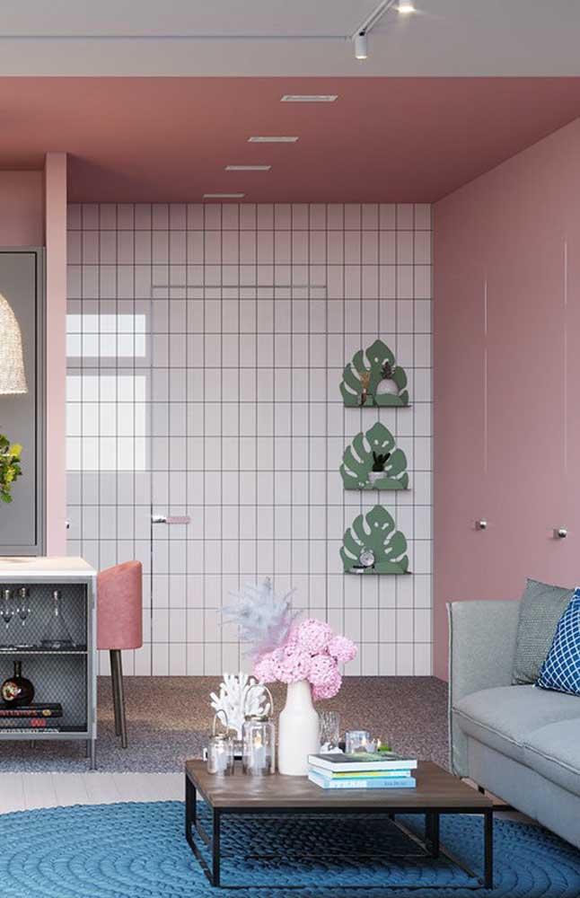 A combinação entre a cor rosa e o verde das folhas da Costela de Adão também já se tornaram um marco nas decorações atuais