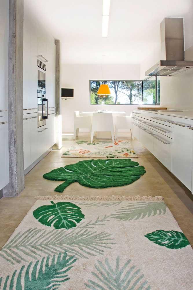 Já pensou em tapetes com a Costela de Adão? Boa ideia!