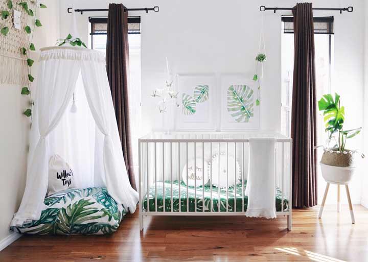 O quarto do bebê também entrou na onda da Costela de Adão, olha como o projeto ficou charmoso e super diferente dos tradicionais