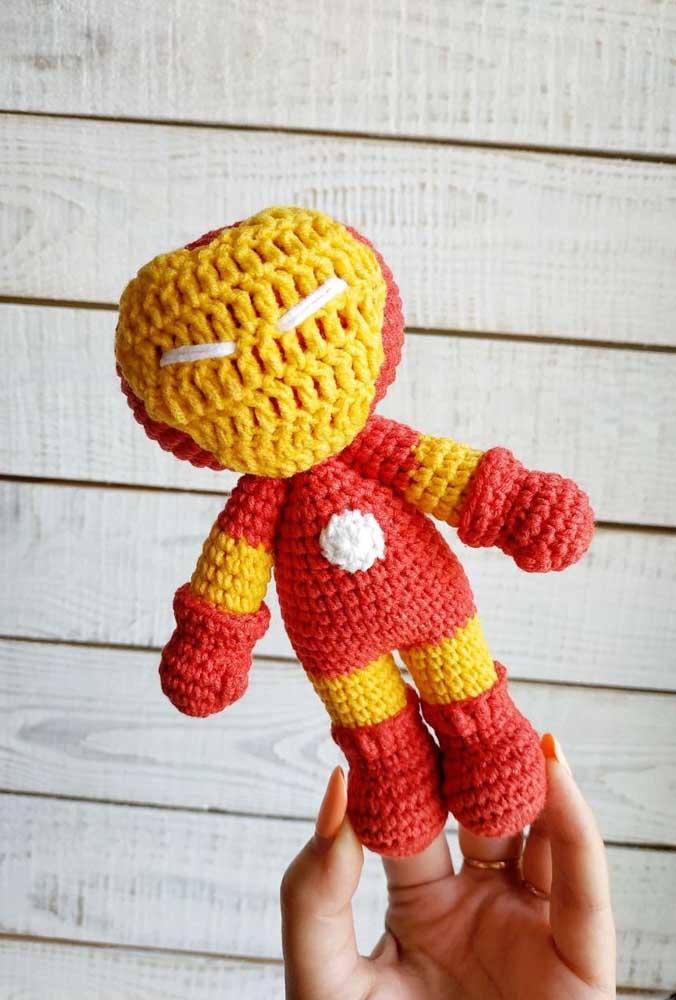 Os bonecos de super-heróis feitos com amigurumi prometem ser a grande sensação para as crianças.