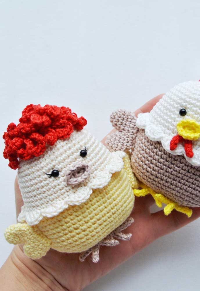 Você quer encantar as crianças? Faça a galinha pintadinha e seus amiguinhos com a técnica amigurumi.