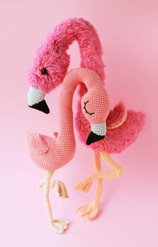 Você pode usar outros materiais além do crochê na hora de fazer os bichinhos amigurumi.