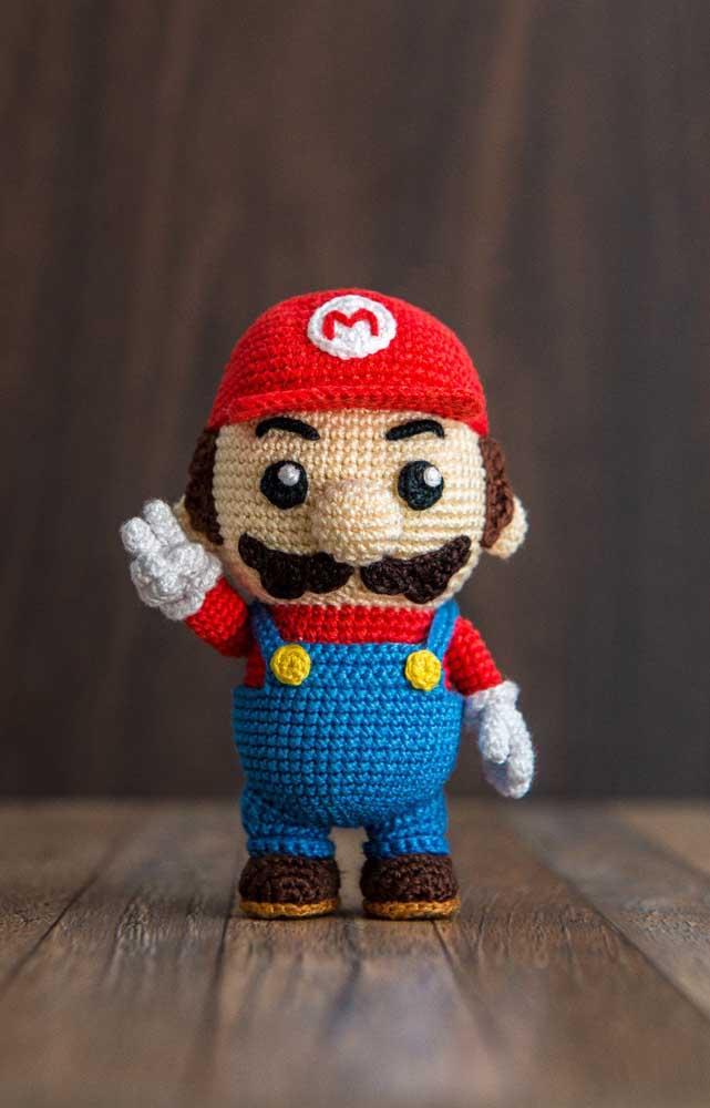 O Super Mario Bros também entra no ritmo dos bonecos feitos com a técnica amigurumi.