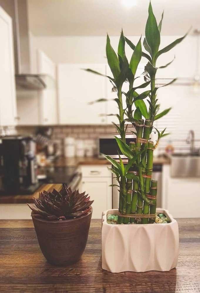 O Bambu da Sorte levou mais leveza e felicidade para a cozinha da casa