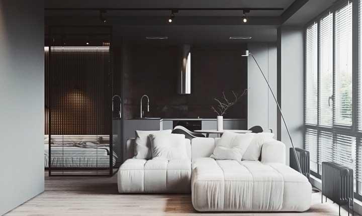 Você pode combinar as cores preta e branca na hora de definir a decoração de cada ambiente.