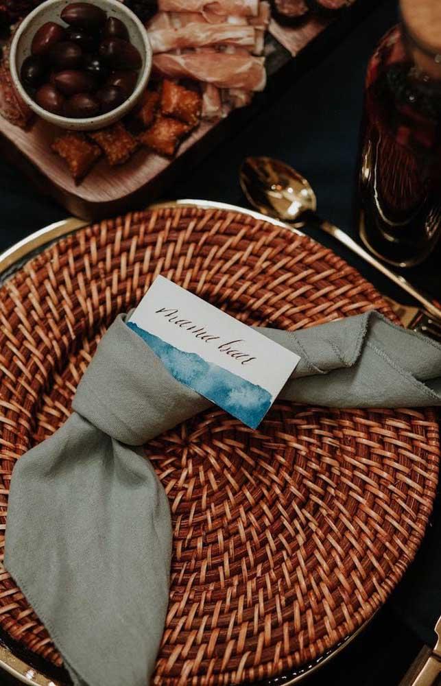 Guardanapos de tecido para dar um ar mais elegante ao chá de bebê