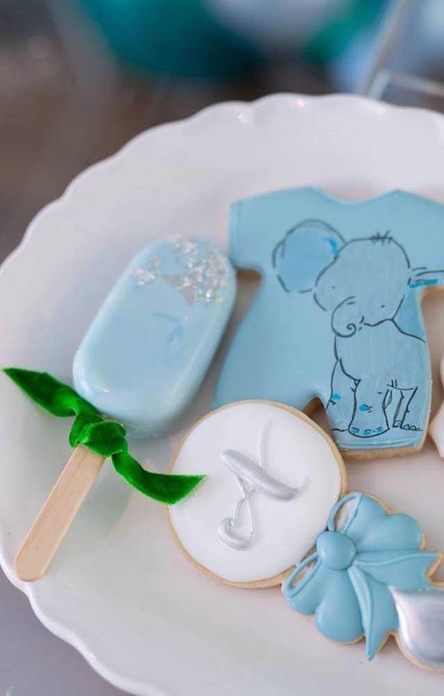 O azul é a cor preferida para os chás de bebê masculino