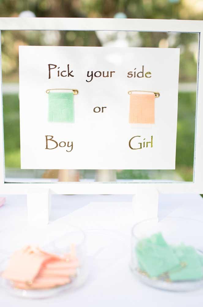 De qual lado você está? Dos meninos ou das meninas?