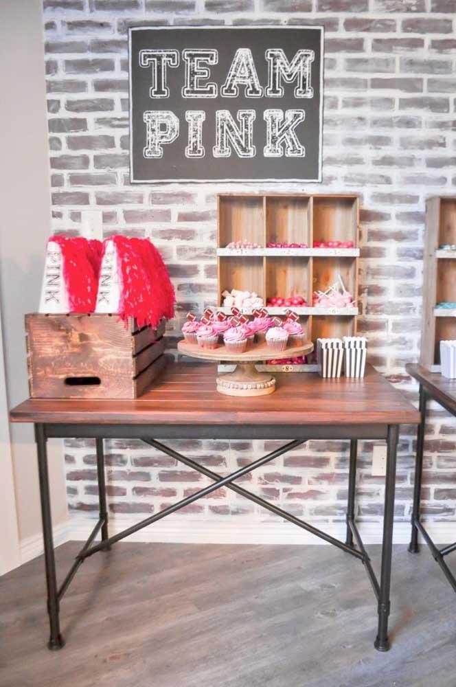Uma mesa para as meninas