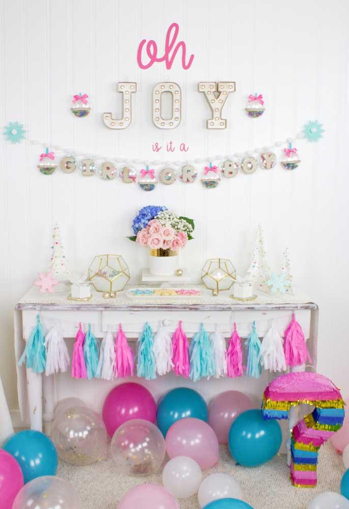 Balões decoram como ninguém o chá revelação