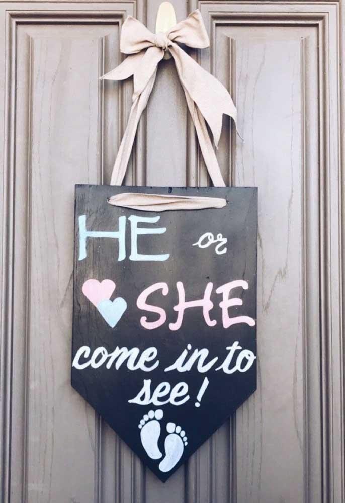 Se é menina ou menina? Só entrando para saber