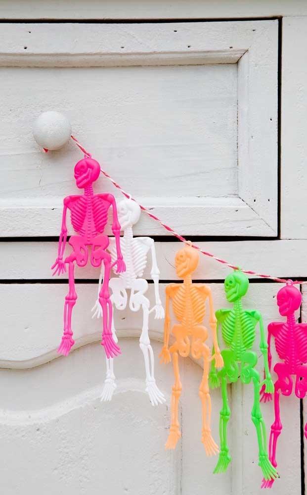 As cores neon também são uma ótima pedida para festas de Halloween