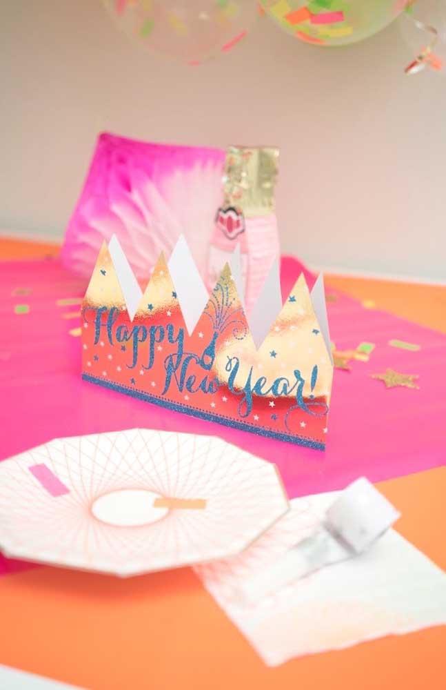 Festa de ano novo com tema neon; para celebrar a chegada do próximo ano com muitas cores e brilho
