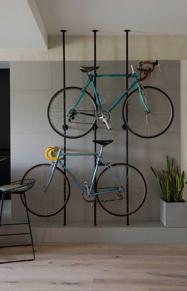 Decoração bonita, prática e funcional; os ciclistas que a digam!