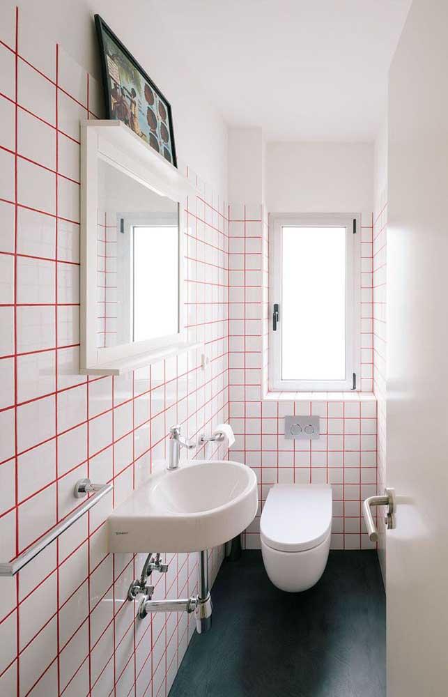 Troque a cor do rejunte e voilà....tenha uma decoração totalmente nova no seu banheiro