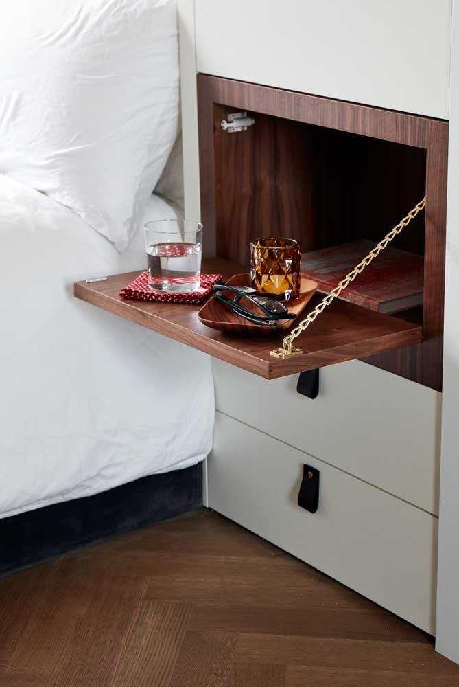 Para quem ama móveis multifuncionais, esse aqui é uma linda e criativa inspiração