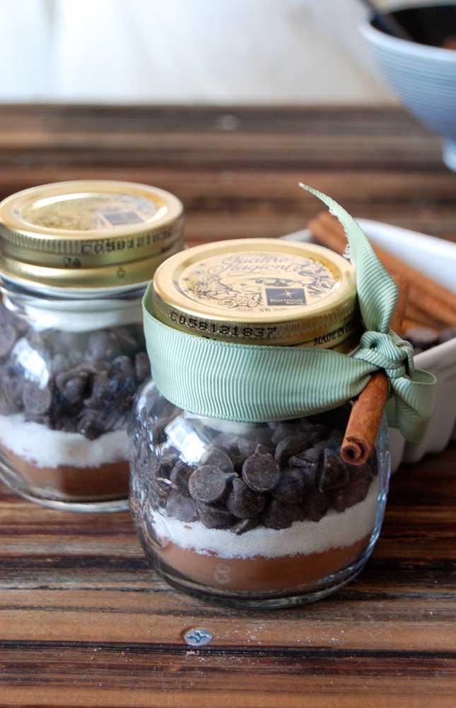 Cappuccino no pote: uma saborosa lembrancinha de chá de bebê