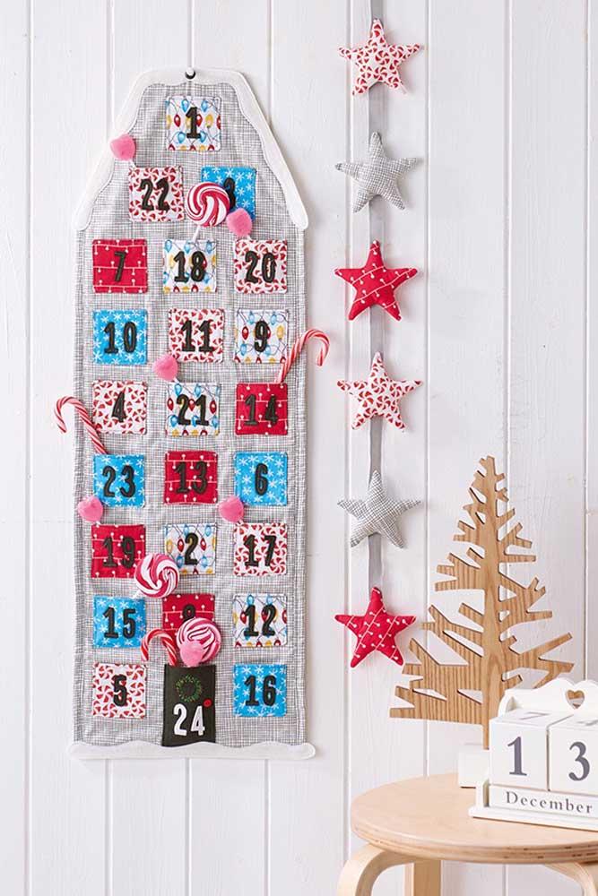 Enfeite de natal feito em patchwork para deixar a casa mais bonita e acolhedora