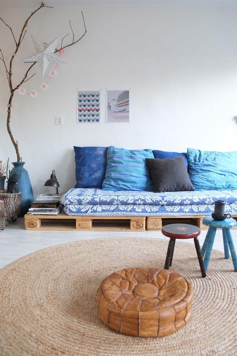Na hora de escolher um puff para sua casa, prefira algo que combine com toda decoração.