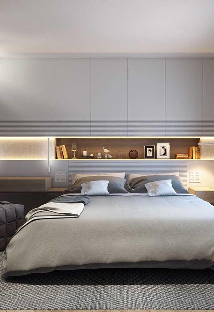 Incrível como a cor cinza deixa o ambiente mais sofisticado e elegante.