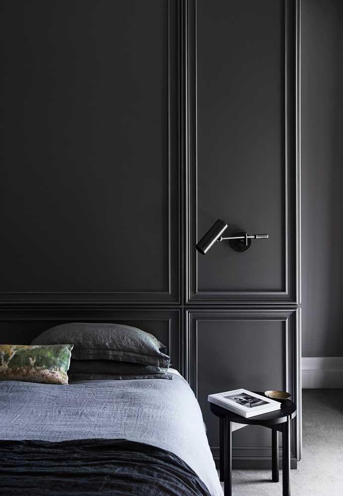 O que acha de radicalizar e decorar o quarto inteiro com a cor cinza?