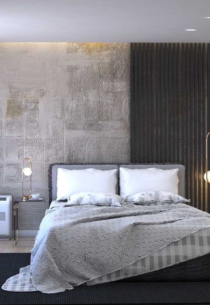 Que tal fazer uma combinação de texturas na parede do quarto?