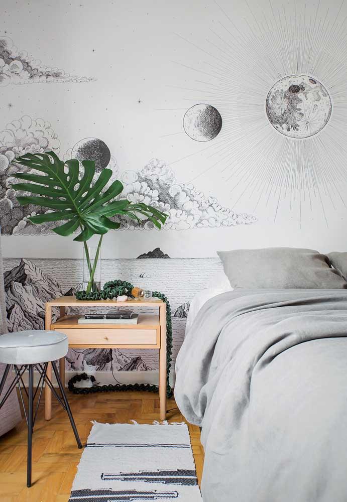 Fazer desenhos na parede se tornou uma nova tendência de decoração.