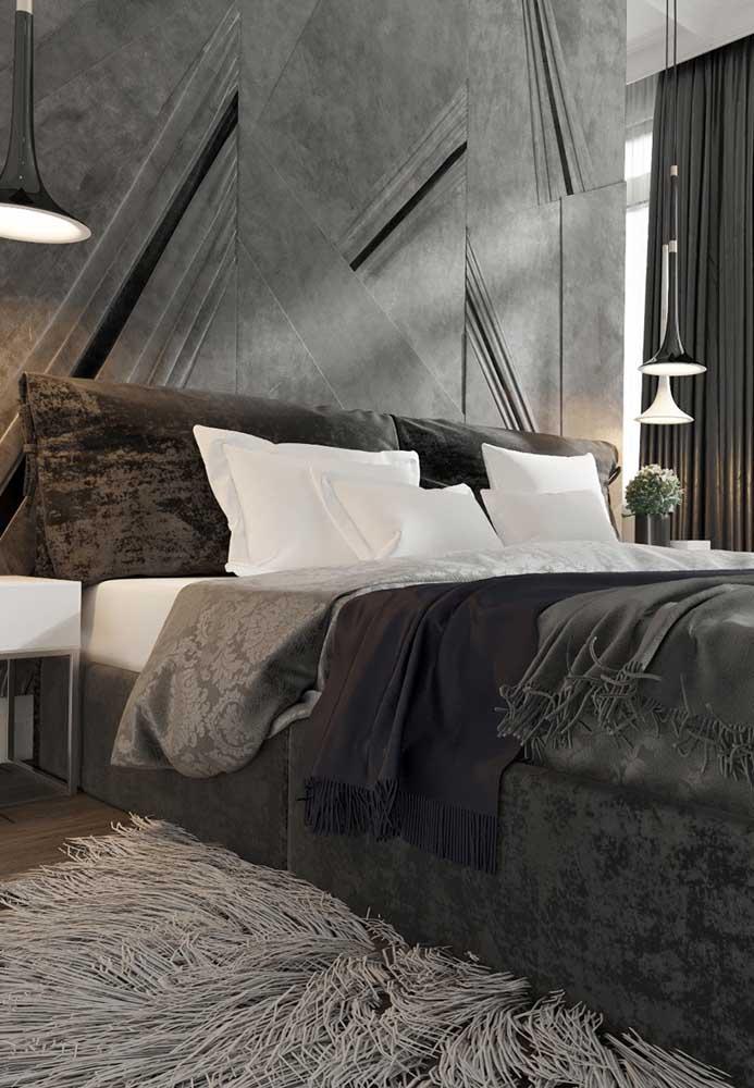 Usando as cores cinza e preta você consegue criar um ambiente moderno e sofisticado.