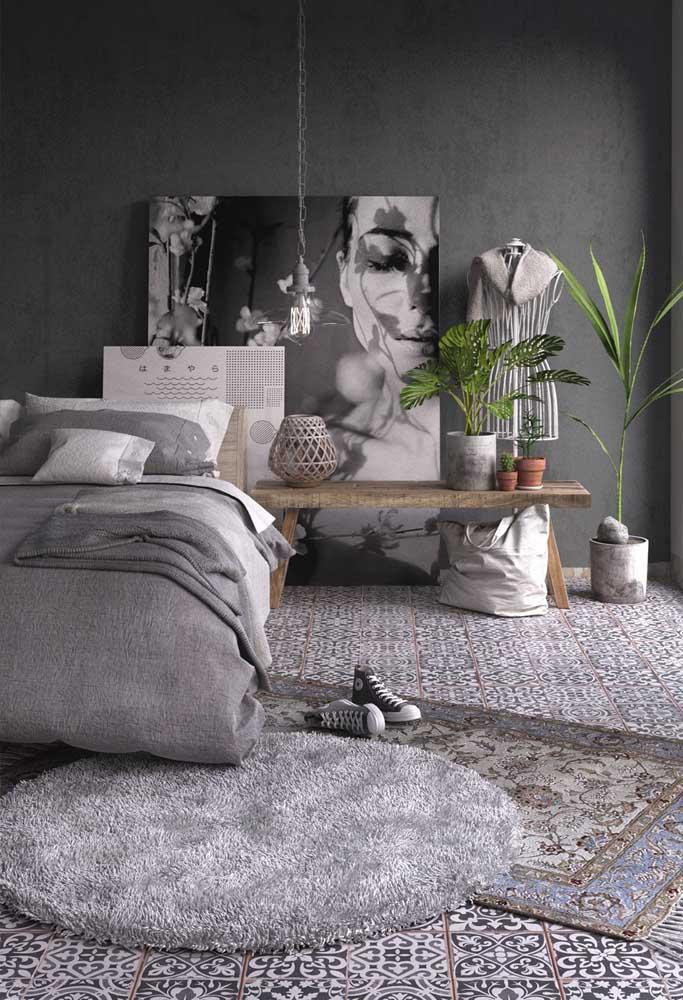 A mulher moderna deseja um quarto mais sofisticado e elegante.