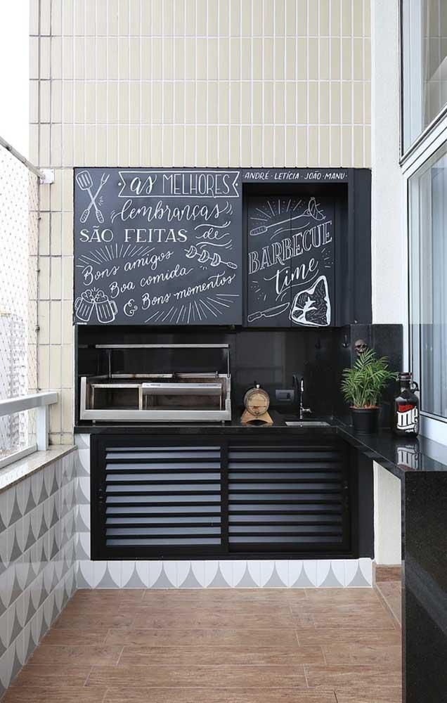 Granito preto: uma opção moderna para revestir a churrasqueira