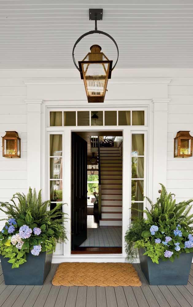 Que tal colocar as samambaias na entrada da casa?
