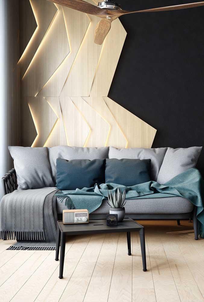 Almofadas e mantas completam a beleza e o conforto do sofá