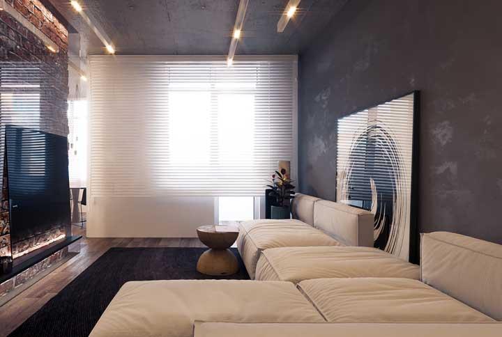 A sala de TV merece um sofá com o máximo de conforto, como esse aqui da imagem