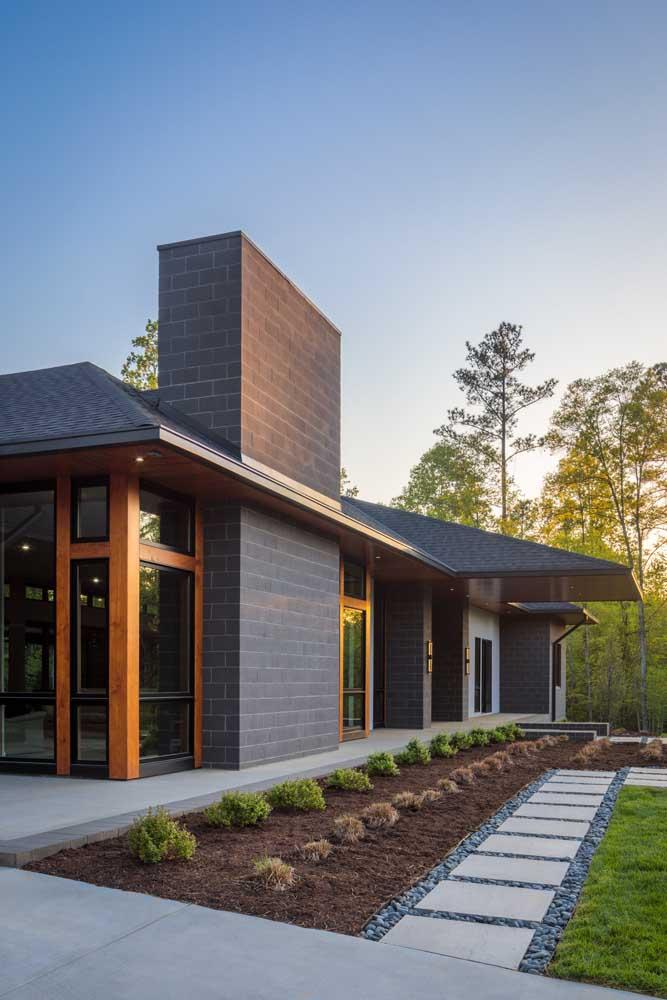 Opção de telhado colonial de ardósia, mais resistente e super bonita