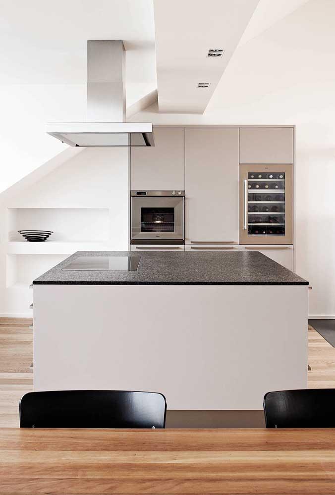 O granito preto é um mestre na arte de criar ambientes elegantes e modernos