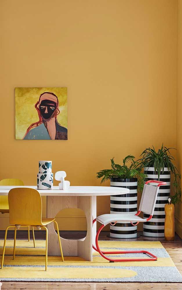 Existem vários tons de amarelo para parede que você pode usar na decoração da sua casa.