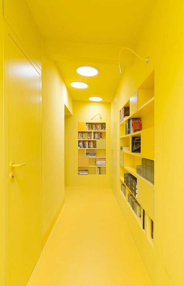Que tal fazer um cômodo inteirinho na cor amarela?