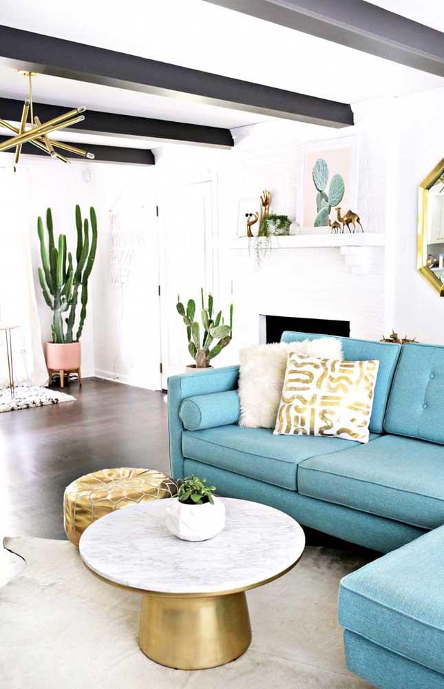 Sofá azul: um sonho de consumo para muita gente!