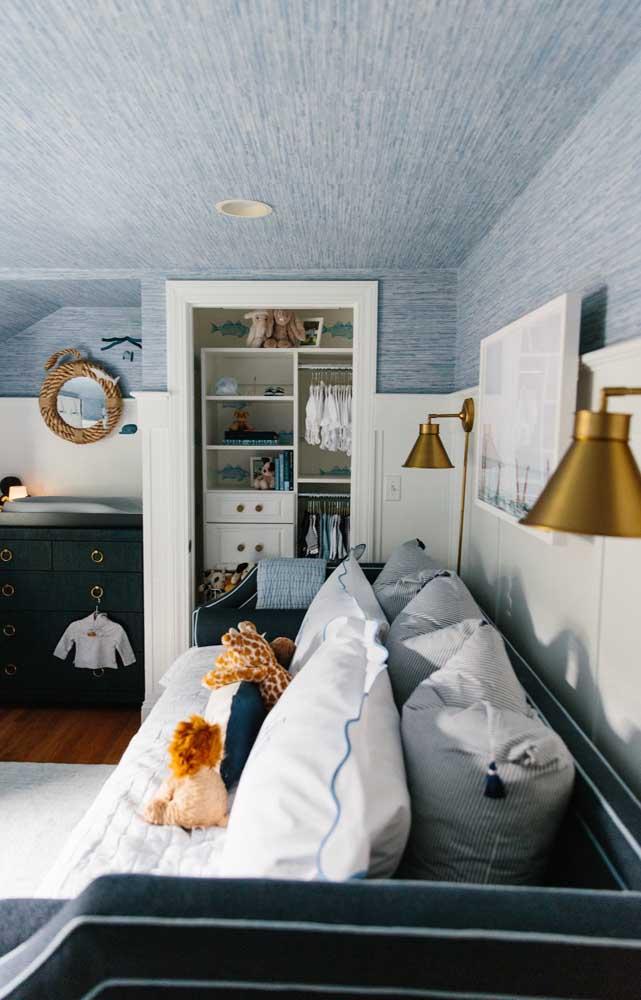 Mix entre a cor azul e diferentes texturas: uma proposta diferenciada e original de decoração