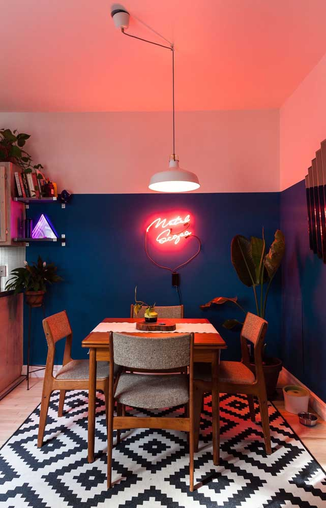 Metade rosa, metade azul: uma boa pedida para decorações leves e descontraídas