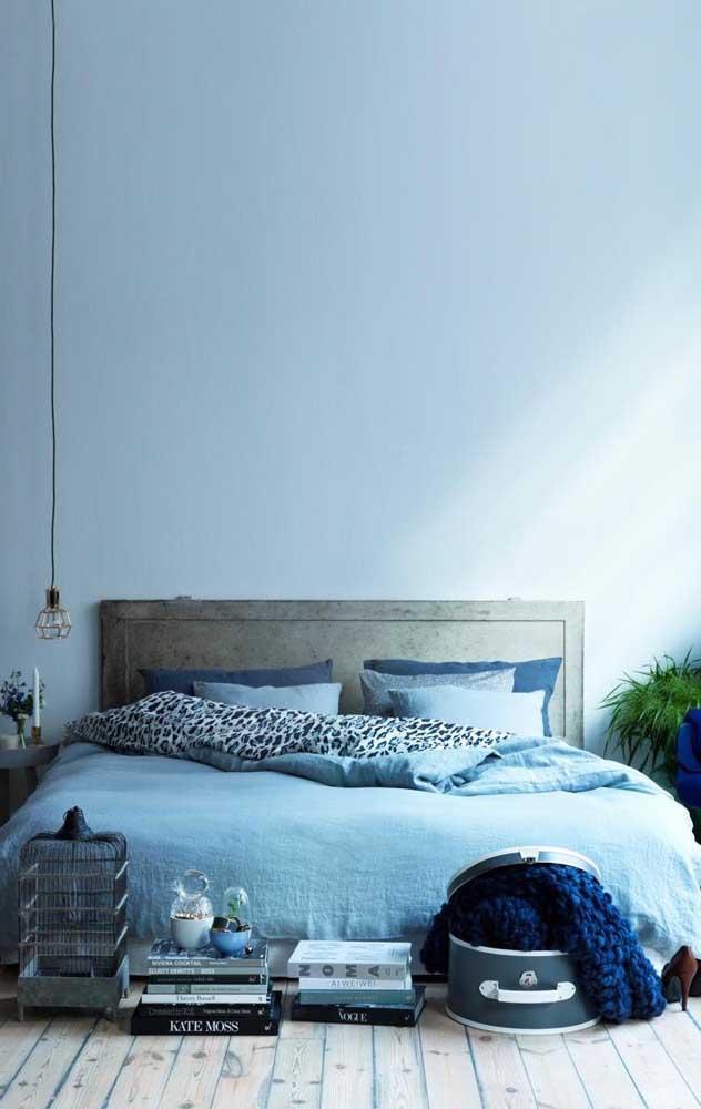 Um quarto azul para recuperar e renovar as energias