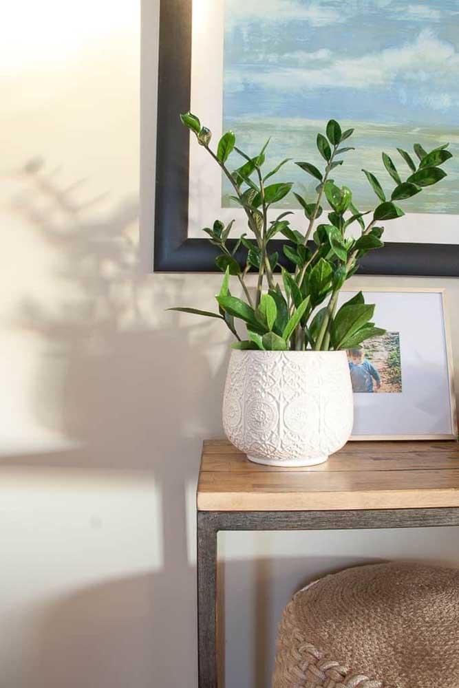 Já os vasos menores da planta ficam perfeitos sobre aparadores e buffets