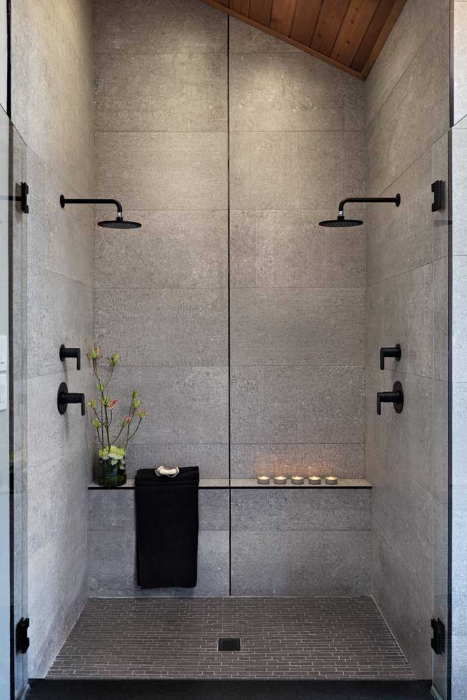 Capriche na área interna do box para ter aquele banho revigorante e relaxante