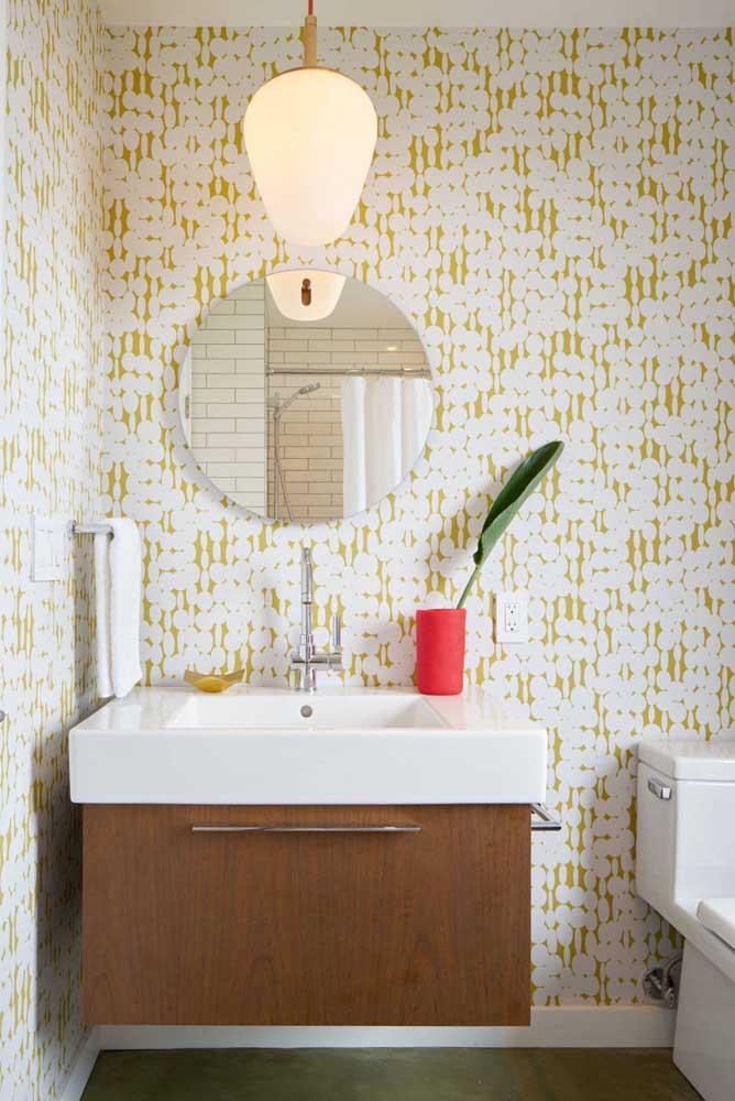Essa imagem é a prova de que o revestimento é responsável por quase cem por cento da decoração do banheiro
