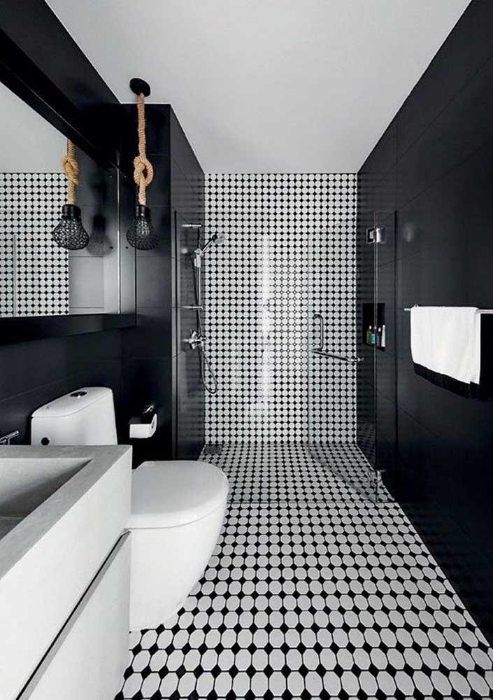 Um preto e branco bem moderninho para você se inspirar