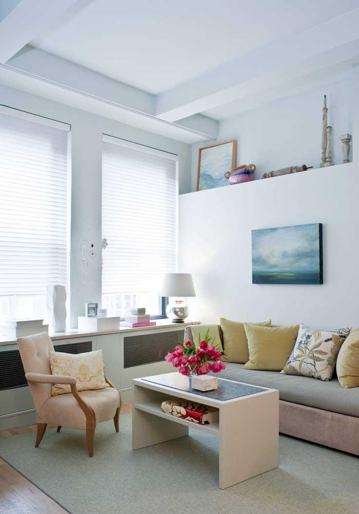 As persianas também são ótimas opções para janelas que contam com móveis sob elas