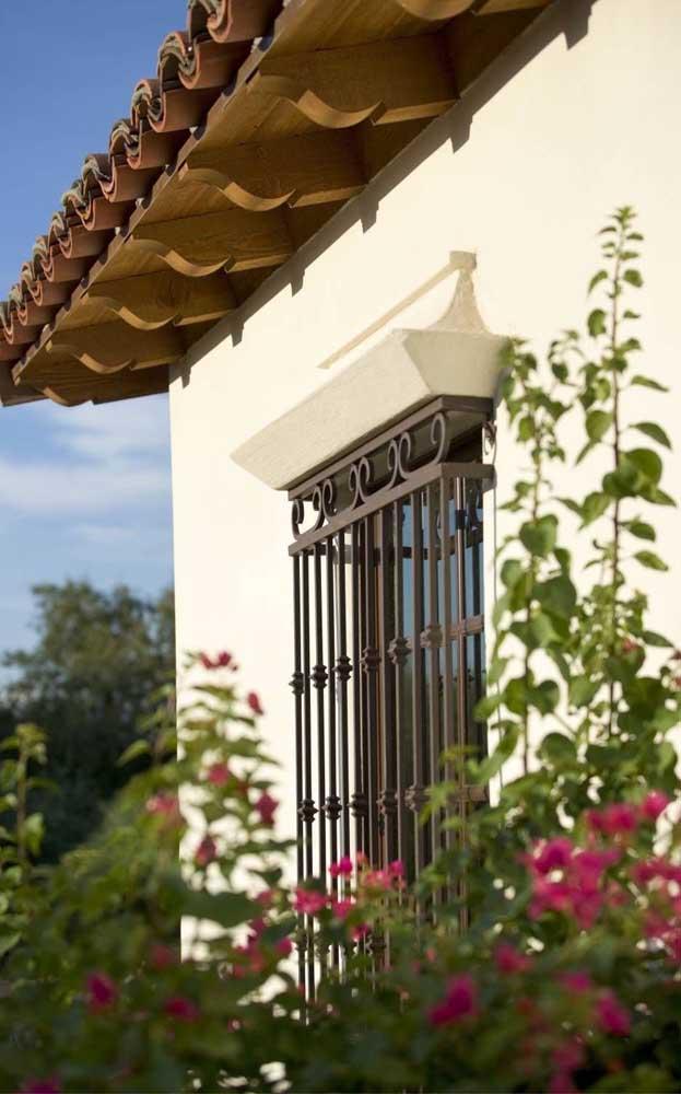As grades de ferro permitem personalização do formato e da cor
