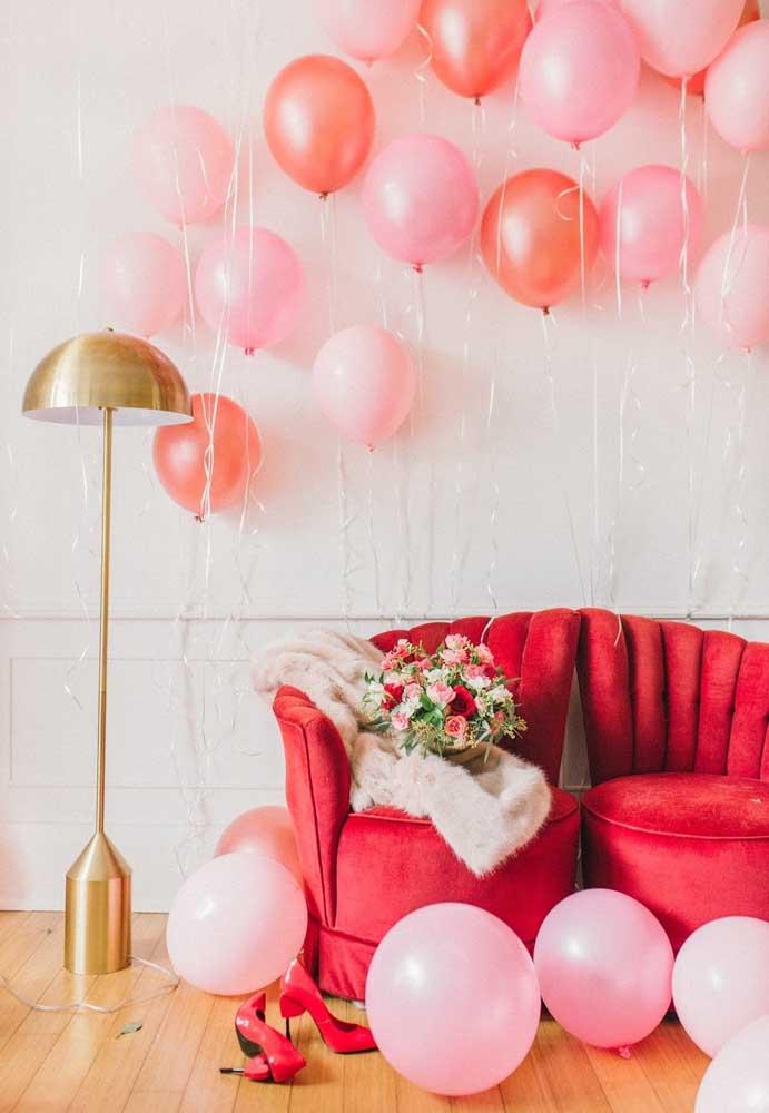Balões nunca saem de moda quando se fala em decoração.