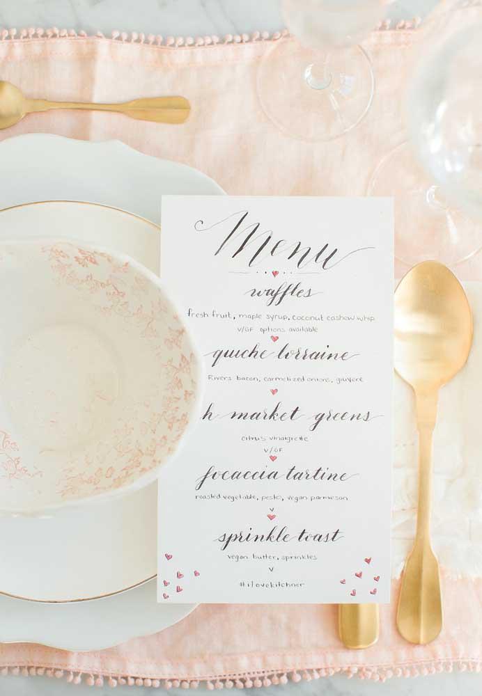 No jantar dia dos namorados faça escolha um menu que agrade o casal.
