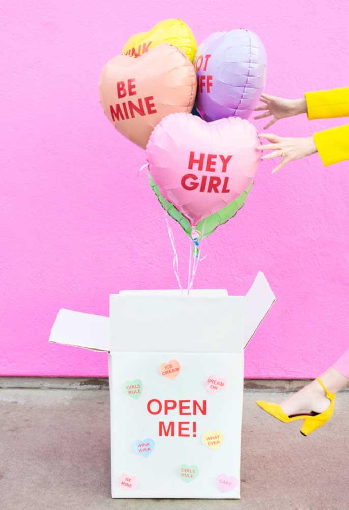 Faça uma surpresa com a festa na caixa dia dos namorados.